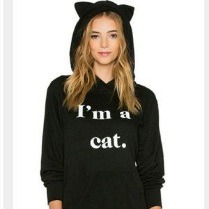 Tops - I'm a Cat Black Pullover Hoodie